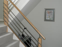 New ash & stainless steel balustrade